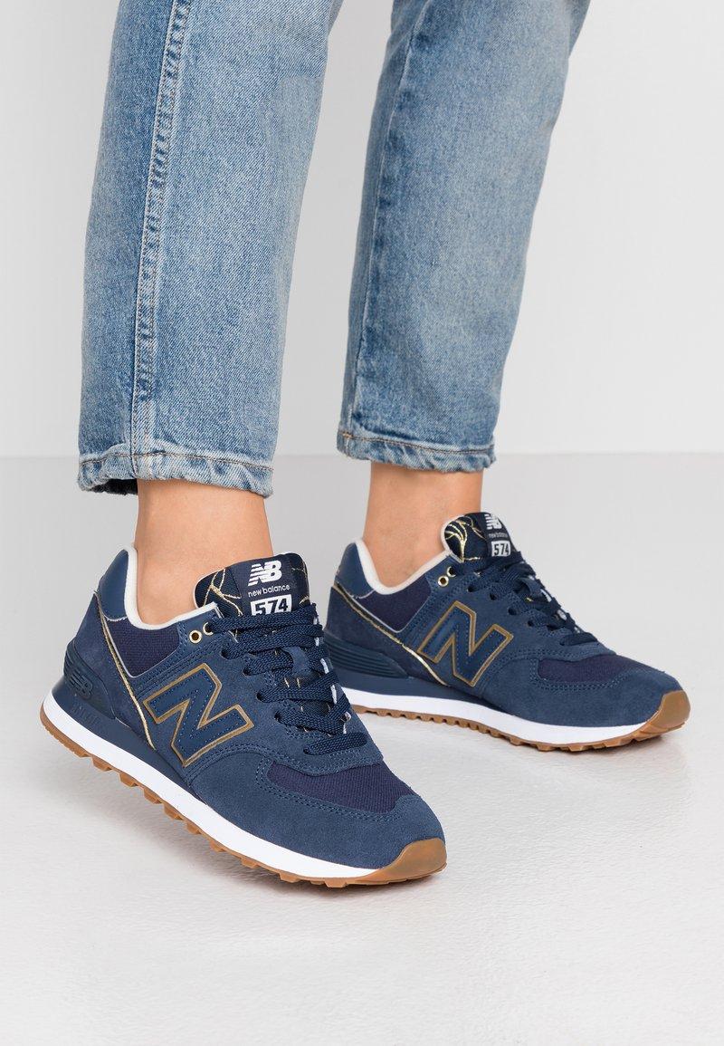 New Balance - WL574 - Sneakersy niskie - navy
