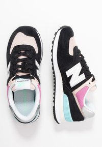 New Balance - WL574 - Sneakers laag - black/pink - 3