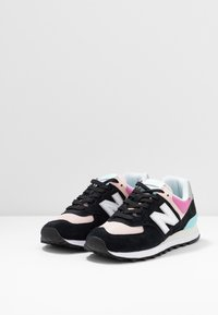 New Balance - WL574 - Sneakers laag - black/pink - 4