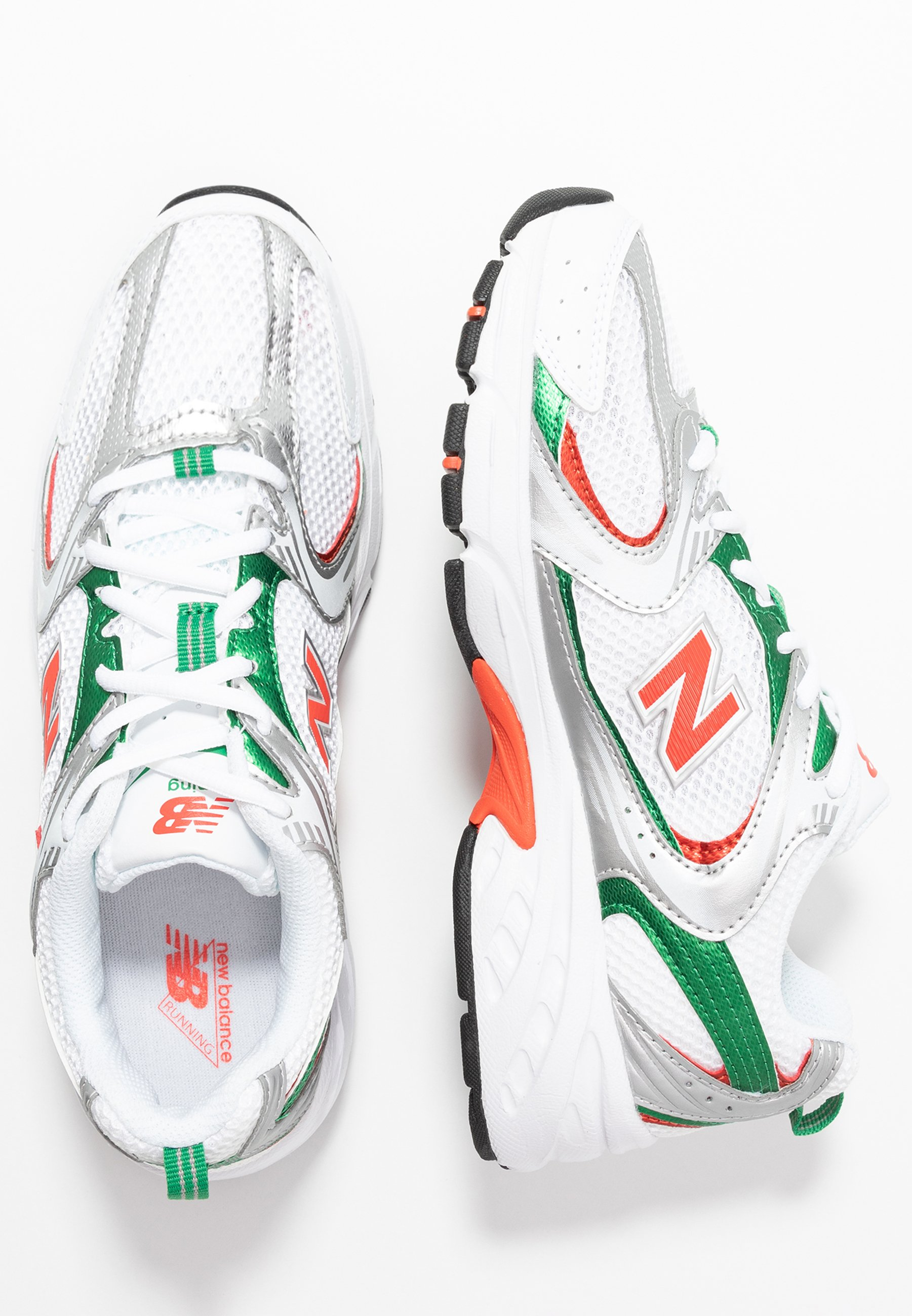 MR530 - Sneaker low - white/green/orange