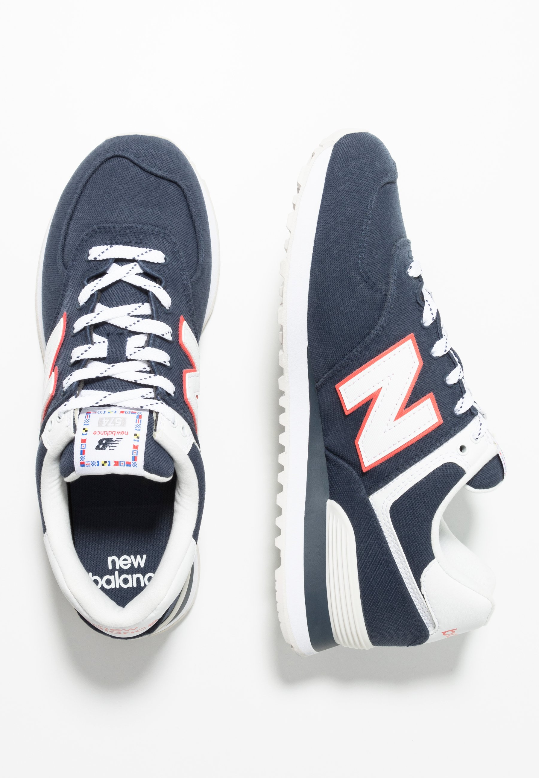 574 - Sneakers laag - navy/white