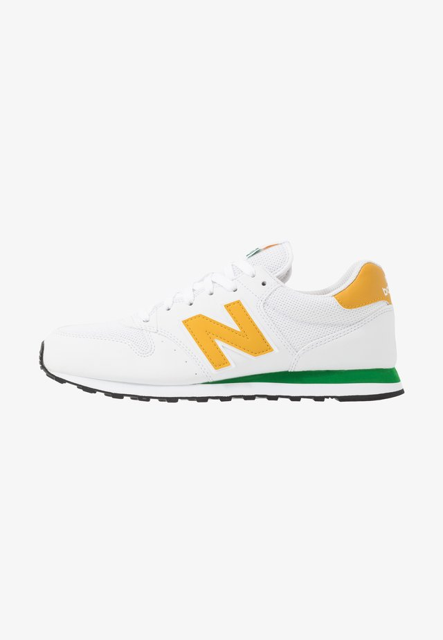 500 - Sneakers laag - white/green/sunflower