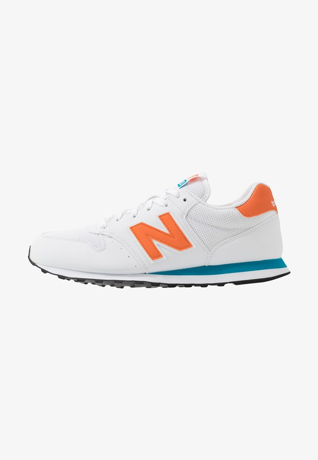 500 - Sneakers laag - white/orange/blue
