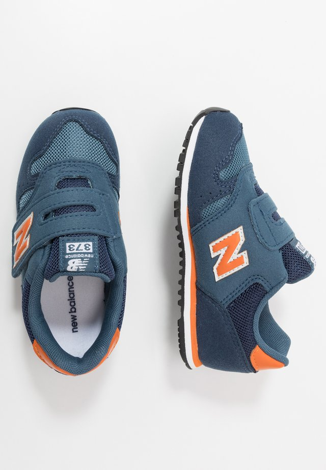 IV373KN - Sneakers laag - navy/orange