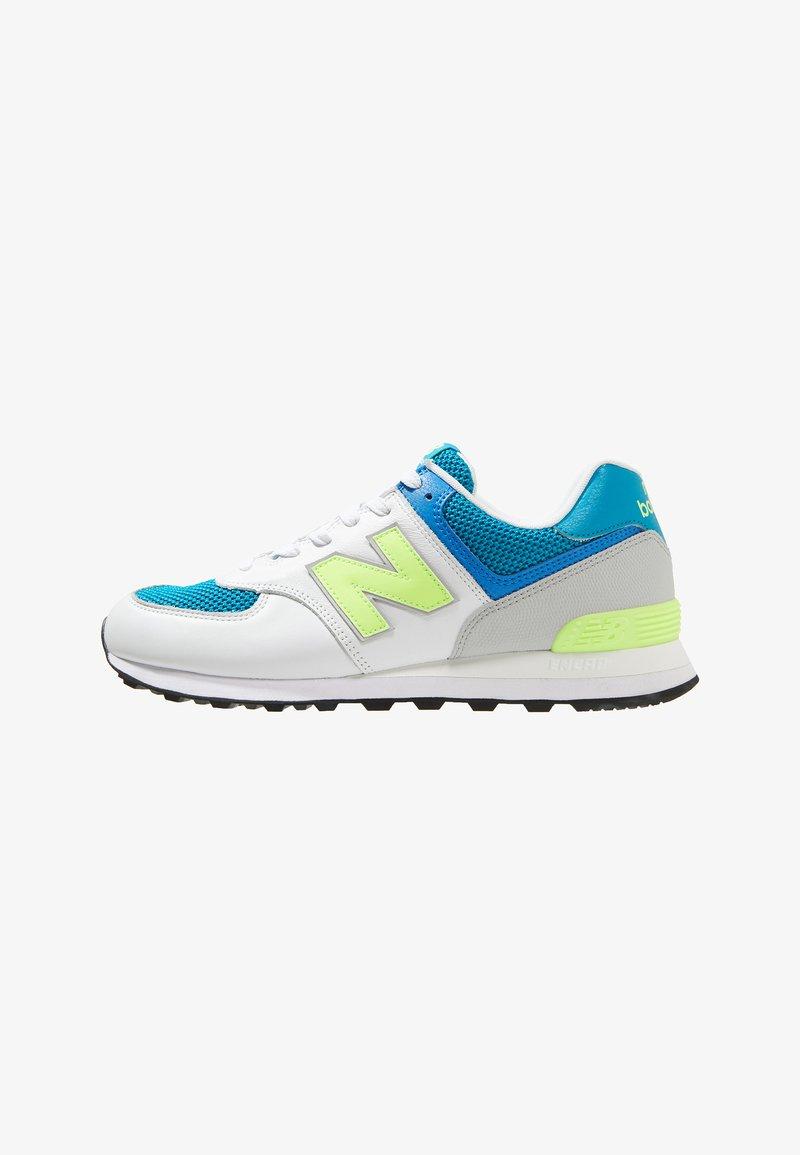 New Balance - ML574 - Sneaker low - white/yellow/petrol