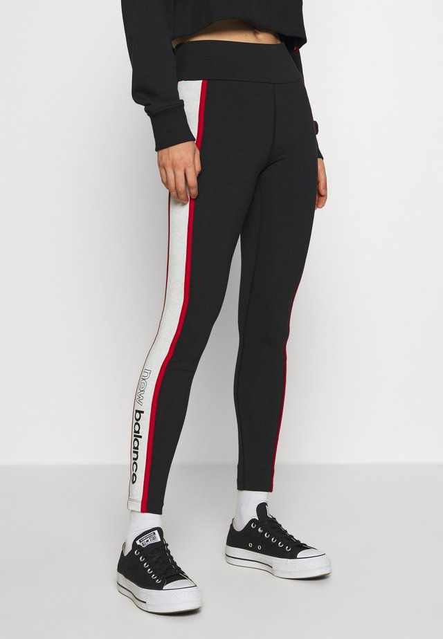 ATHLETICS PIPING  - Leggings - Trousers - black