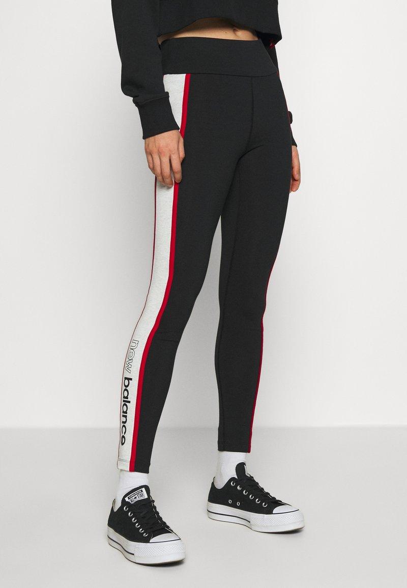 New Balance - ATHLETICS PIPING  - Leggings - Trousers - black