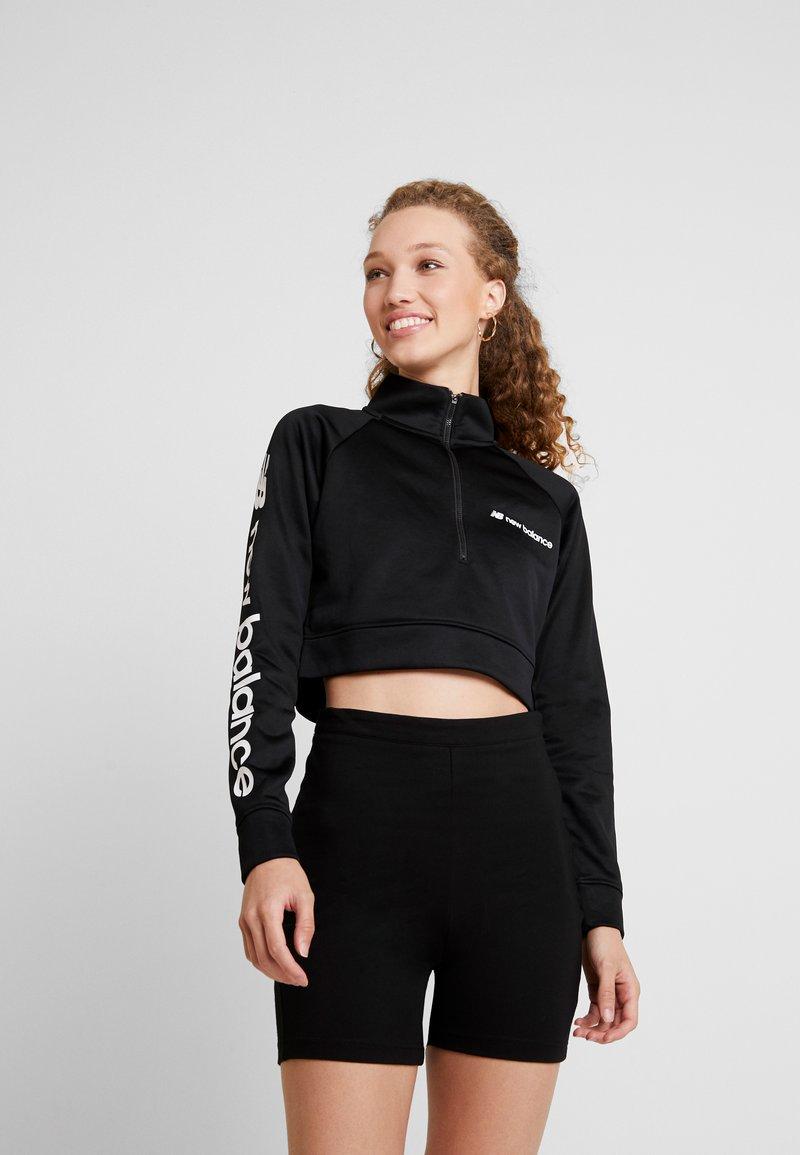 New Balance - SPORT STYLE OPTIKS CROPPED ZIP - Sweatshirt - black