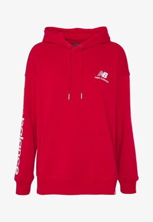 ESSENTIALS ICON PULLOVER - Mikina s kapucí - teamredp