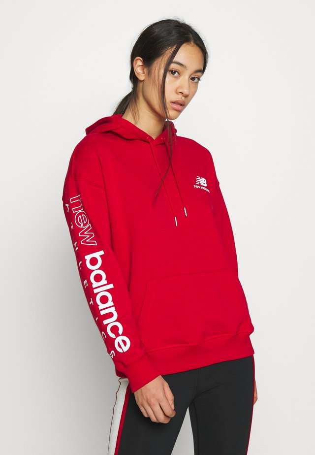 ESSENTIALS ICON PULLOVER - Hoodie - teamredp