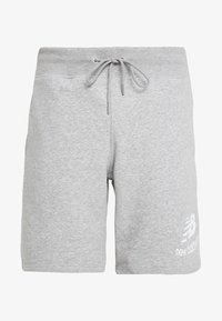 New Balance - ESSENTIALS STACKED LOGO - Shorts - athletic grey - 3