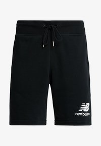 New Balance - ESSENTIALS STACKED LOGO - Shorts - black - 4