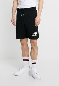 New Balance - ESSENTIALS STACKED LOGO - Shorts - black - 0