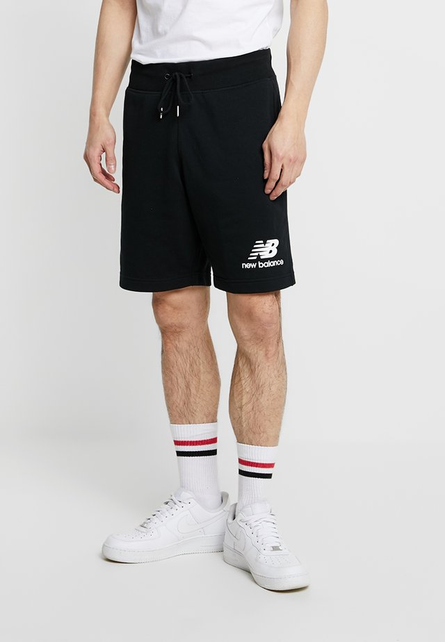 ESSENTIALS STACKED LOGO - Shorts - black