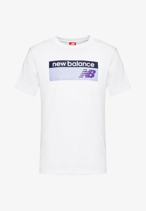 ATHLETICS BANNER - T-shirt con stampa - white/lilac