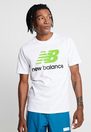 T-shirt med print - white/lime