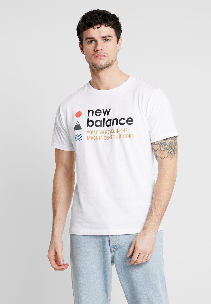 New Balance - TRAIL TEE - T-shirts print - munsell white