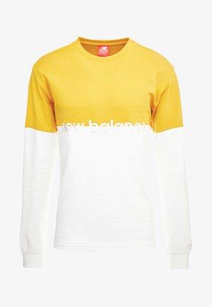 NB ATHLETICS PIQUE STRIPE LS - T-shirt à manches longues - varsgold