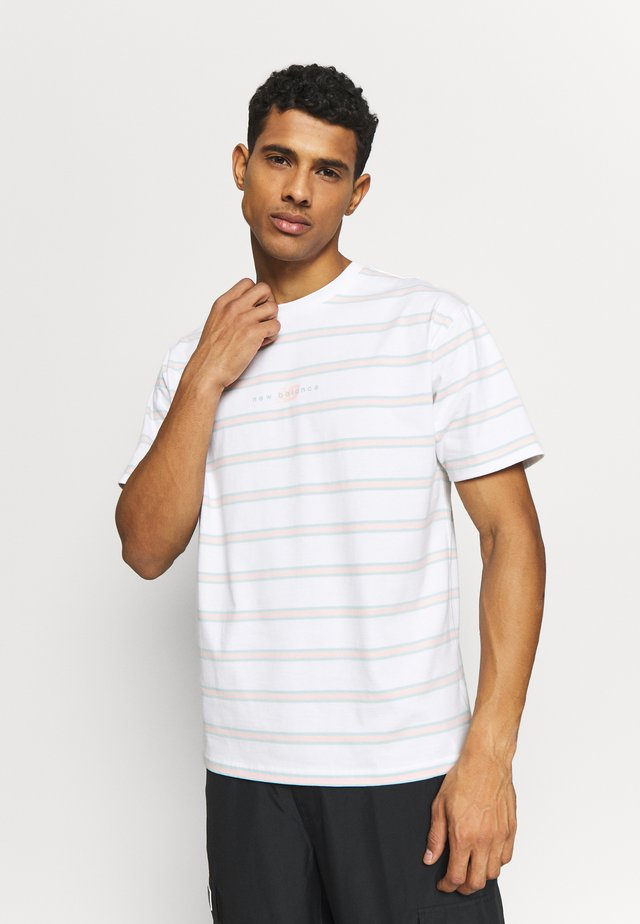 ATHLETICS STRIPE - Camiseta estampada - white