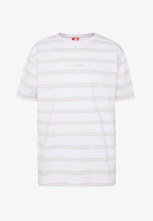 ATHLETICS STRIPE - Print T-shirt - white