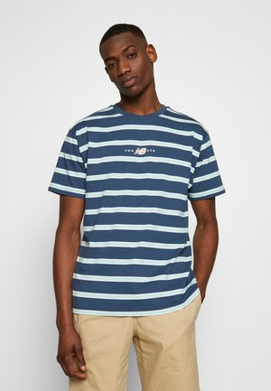 ATHLETICS STRIPE - T-shirt med print - stoneblu