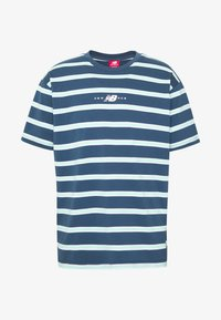 New Balance - ATHLETICS STRIPE - T-shirt print - stoneblu - 3