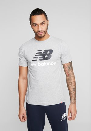 ESSENTIALS STACKED LOGO  - T-shirt con stampa - athletic gre