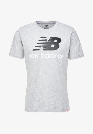ESSENTIALS STACKED LOGO  - T-shirt imprimé - athletic gre