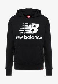 New Balance - ESSENTIALS STACKED LOGO HOODIE - Sweat à capuche - black - 3