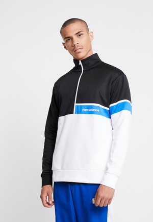 ATHLETICS SELECT TRACK  ZIP - Sweatshirt - black/white