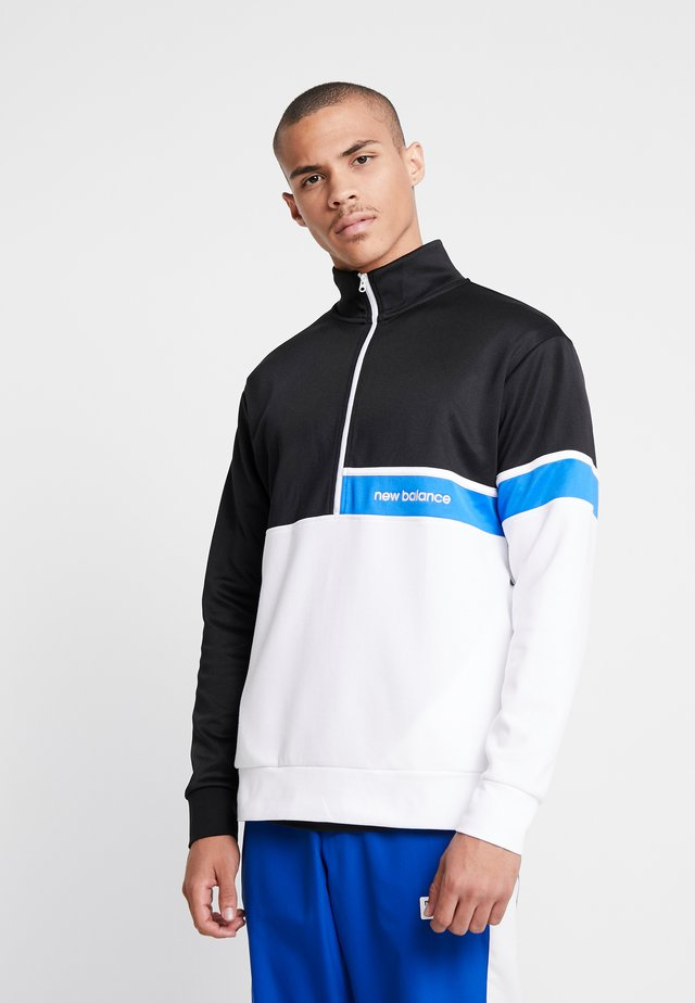 ATHLETICS SELECT TRACK  ZIP - Sweater - black/white