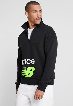 Sweatshirt - black/lime