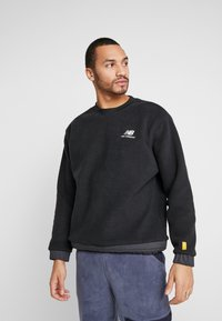 New Balance - TRAIL SHERPA CREW - Sweat polaire - black - 0