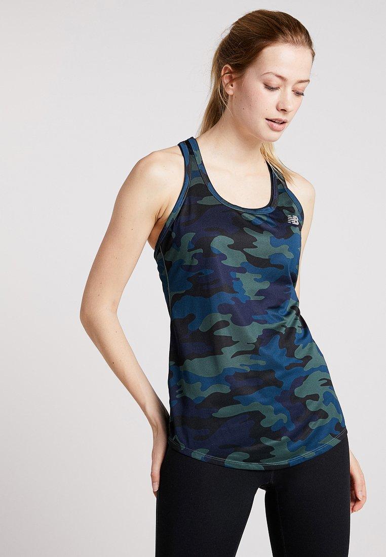 New Balance - PRINTED ACCELERATE TANK - Camiseta de deporte - khaki