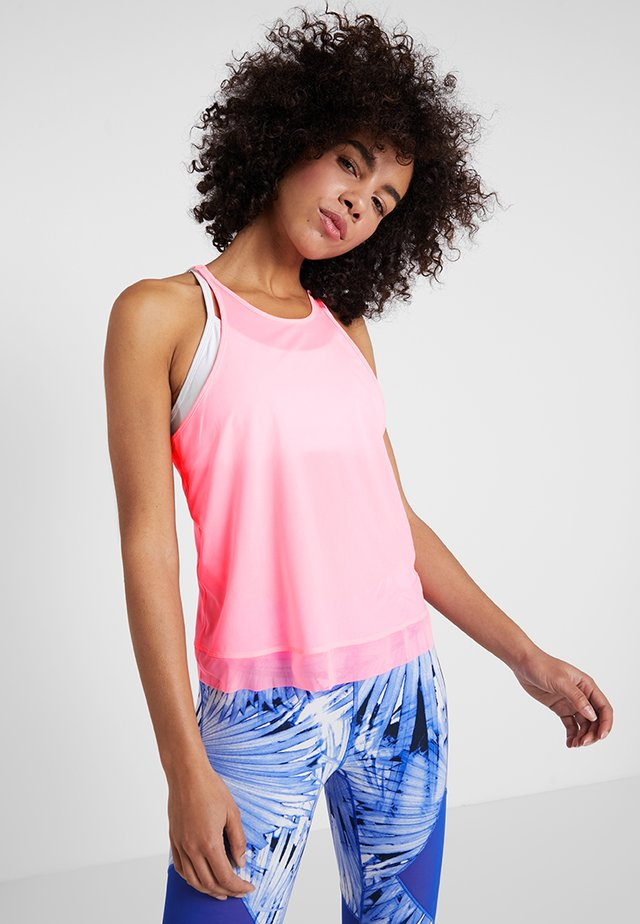 FEEL THE COOL TANK - Sports shirt - neon pink