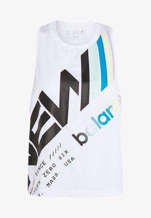 PRINTED VELOCITY CROP TANK - Sports shirt - white/multi