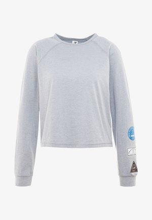 RELENTLESS RINGER LONG SLEEVE - Treningsskjorter - athletic grey