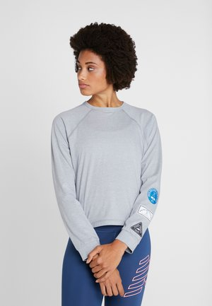 RELENTLESS RINGER LONG SLEEVE - Funktionsshirt - athletic grey
