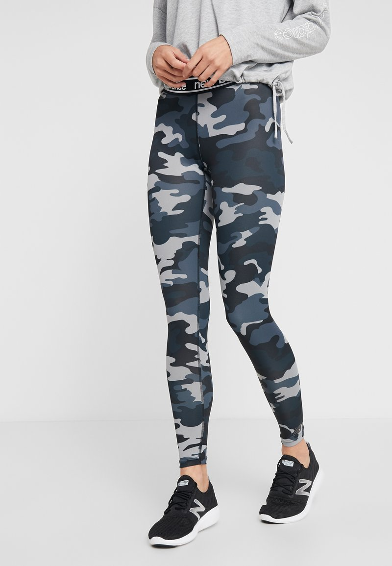 New Balance - PRINTED ACCELERATE  - Leggings - black heather