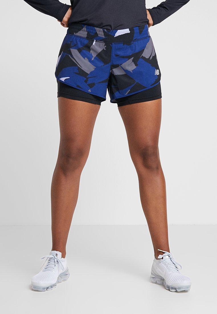 New Balance - PRINTED IMPACT SHORT  - kurze Sporthose - dark blue