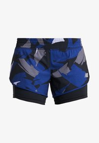 New Balance - PRINTED IMPACT SHORT  - Träningsshorts - dark blue - 3