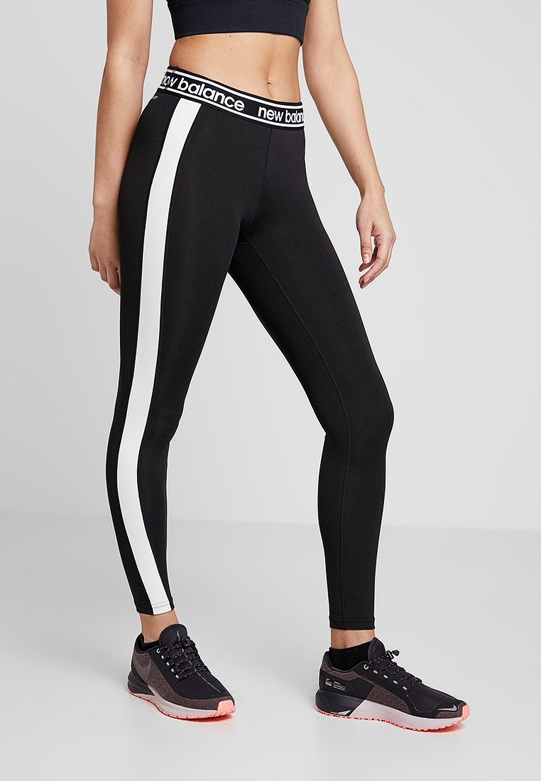 New Balance - COLOR BLOCK ACCELERATE  - Tights - black/white