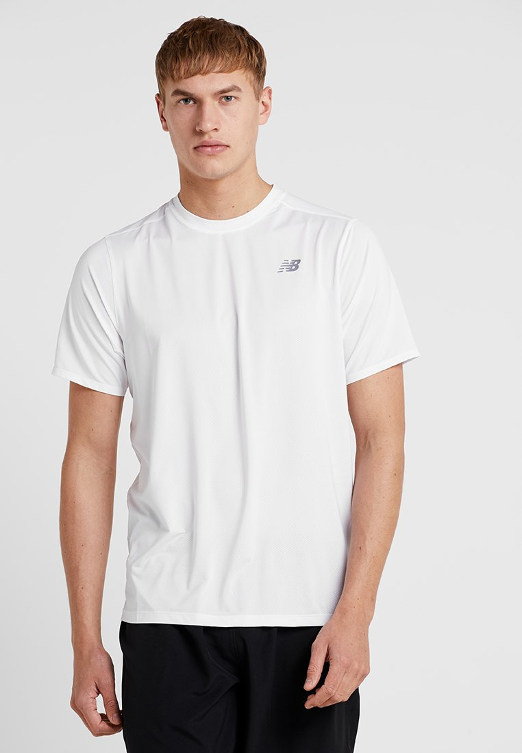 New Balance - RALLY CREW SOLID - T-Shirt basic - white
