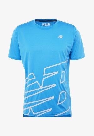 PRINTED ACCELERATE - T-shirt imprimé - vision blue