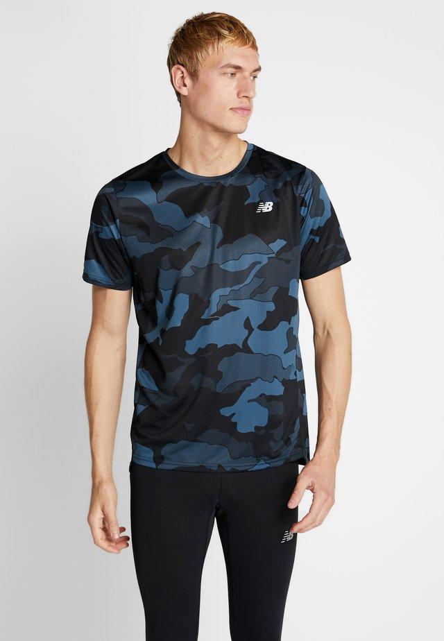 PRINTED ACCELERATE - T-shirt print - black/slate