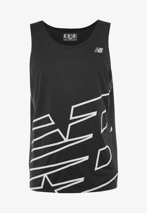 PRINTED ACCELERATE SINGLET - Sports shirt - black/white