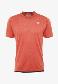 New Balance - IMPACT RUN - Print T-shirt - red heather - 3