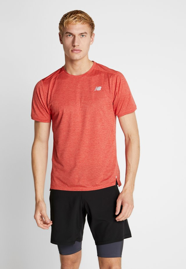IMPACT RUN - Camiseta estampada - red heather