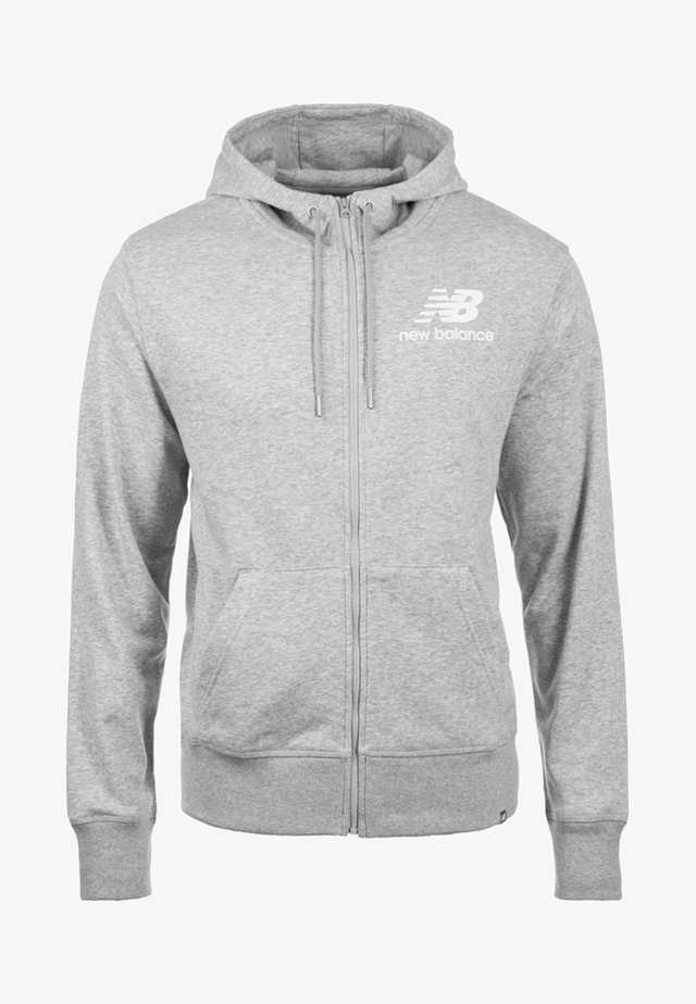 veste en sweat zippée - light grey