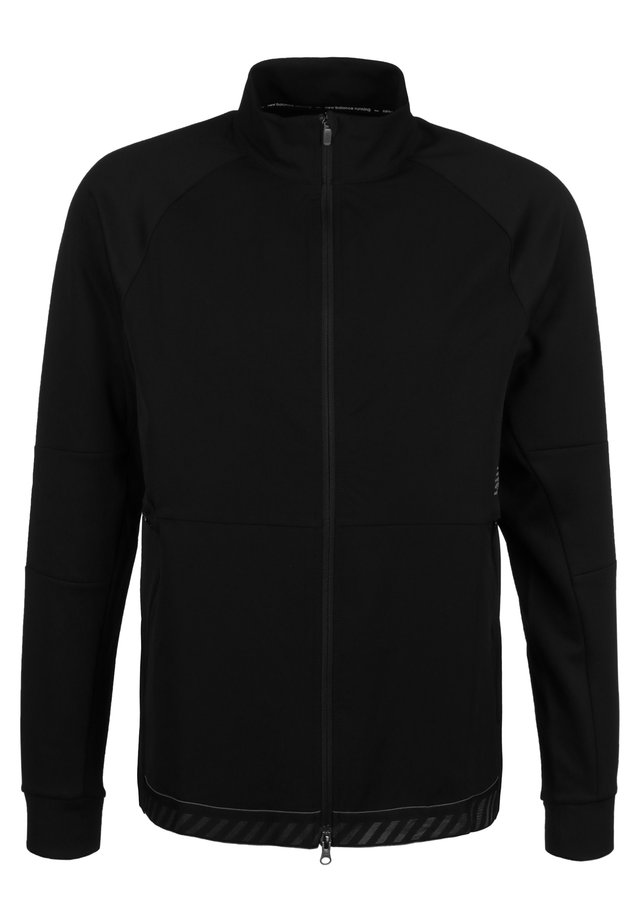 Q SPEED RUN CREW LAUFJACKE HERREN - Veste de survêtement - black